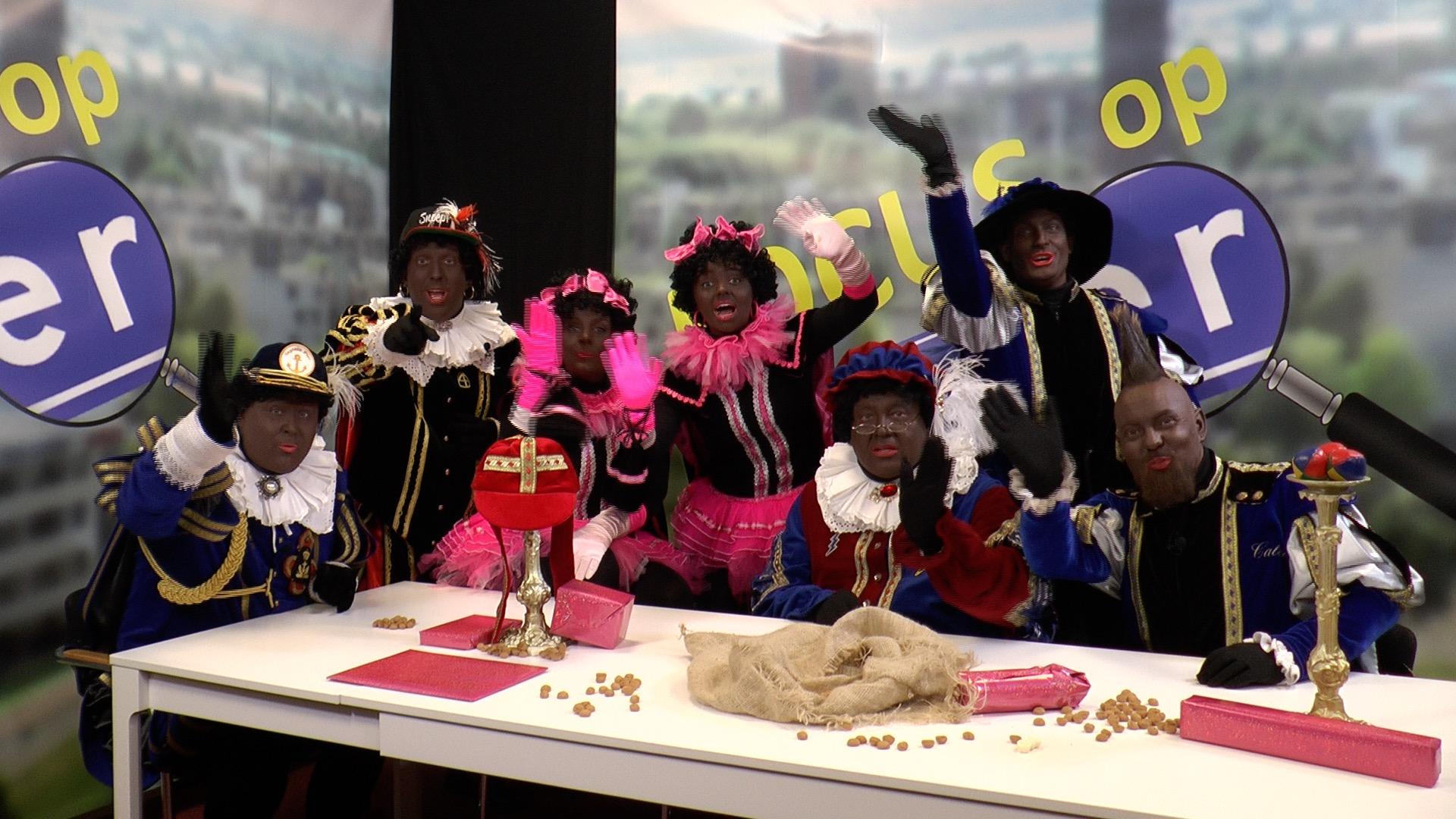 Zwarte pieten nemen afscheid van Zoetermeer
